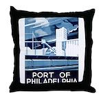 Port Of Philadelphia Throw Pillow