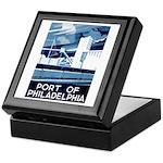 Port Of Philadelphia Keepsake Box