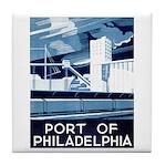 Port Of Philadelphia Tile Coaster