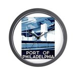 Port Of Philadelphia Wall Clock
