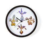 Spuria Iris Wall Clock