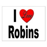 I Love Robins Small Poster