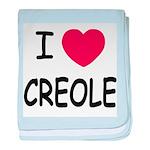 I heart creole baby blanket
