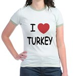 I heart turkey Jr. Ringer T-Shirt