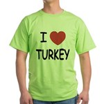 I heart turkey Green T-Shirt
