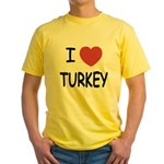 I heart turkey Yellow T-Shirt