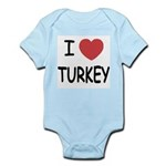 I heart turkey Infant Bodysuit