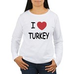 I heart turkey Women's Long Sleeve T-Shirt