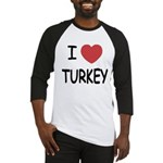 I heart turkey Baseball Jersey