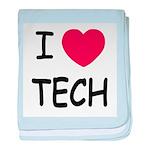 I heart tech baby blanket