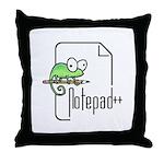 Notepad++ Throw Pillow