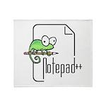 Notepad++ Plush Fleece Throw Blanket