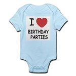 I heart birthday parties Infant Bodysuit
