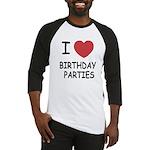 I heart birthday parties Baseball Jersey