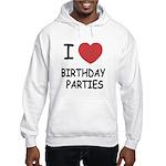 I heart birthday parties Hooded Sweatshirt