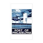 Port Of Philadelphia Rectangle Sticker