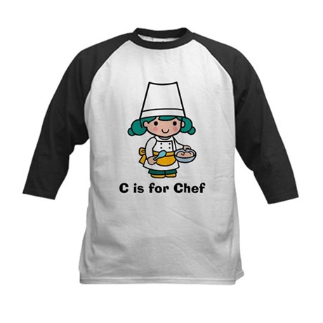 C is for Chef Kids Baseball Jersey