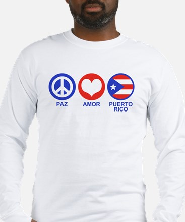 Paz Amor Puerto Rico Long Sleeve T-Shirt