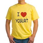 I heart yogurt Yellow T-Shirt