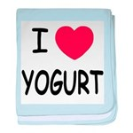 I heart yogurt baby blanket