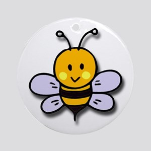 Cute Bee Ornament (Round)