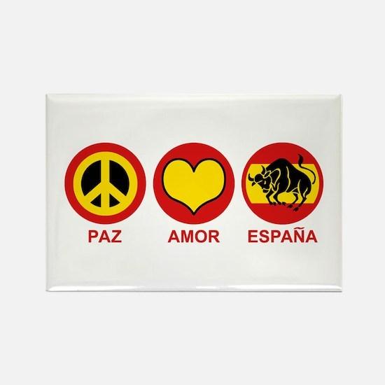 Paz Amor Espana Rectangle Magnet