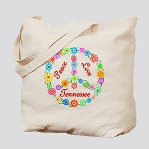 Peace Love Tennessee Tote Bag