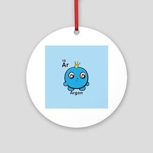 Cute Element Argon Ar Round Ornament