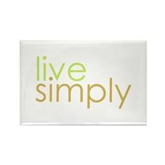live simply Rectangle Magnet (10 pack)