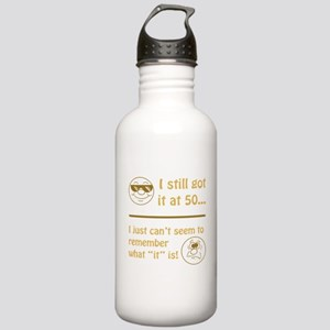 Funny Faces 50th Birthday Stainless Water Bottle 1