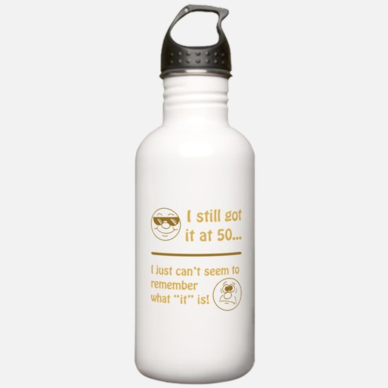 Funny Faces 50th Birthday Water Bottle