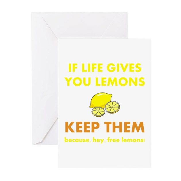 Life gives you lemons greeting cards pk of 10 by amazingmart m4hsunfo