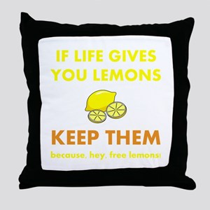 Life Gives You Lemons Throw Pillow