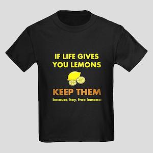 Life Gives You Lemons Kids Dark T-Shirt