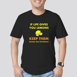 Life Gives You Lemons Men's Fitted T-Shirt (dark)