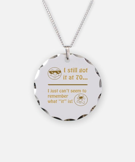 Funny Faces 70th Birthday Necklace