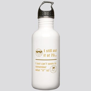 Funny Faces 70th Birthday Stainless Water Bottle 1