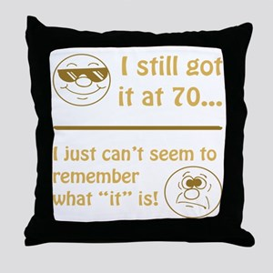 Funny Faces 70th Birthday Throw Pillow