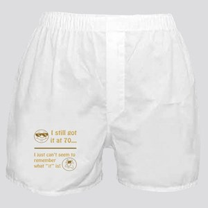 Funny Faces 70th Birthday Boxer Shorts