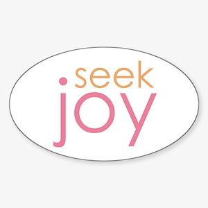 seek joy Oval Sticker