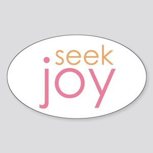 seek joy Oval Sticker