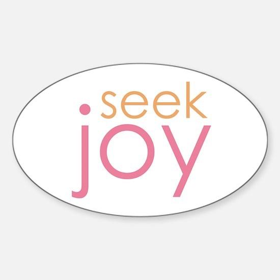seek joy Oval Decal