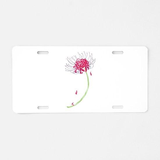 Unique Lily Aluminum License Plate