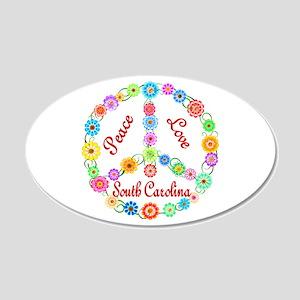 Peace Love South Carolina 22x14 Oval Wall Peel