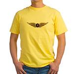 Wings of a Shrine Pilot Yellow T-Shirt