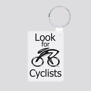 Look for Cyclists Aluminum Photo Keychain