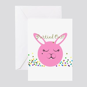 Partied Out Bunny Greeting Cards (Pk of 10)