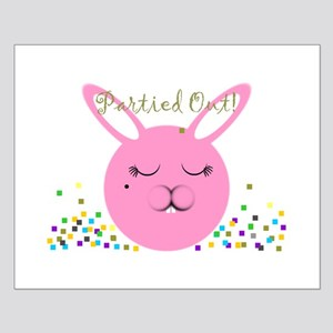 Partied Out Bunny Small Poster