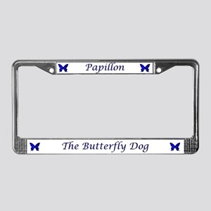 Butterfly Dog License Plate Frame