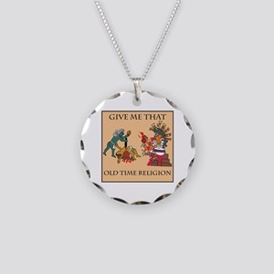 Old Time Religion Necklace Circle Charm